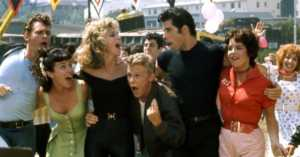 the main cast of the film, Grease