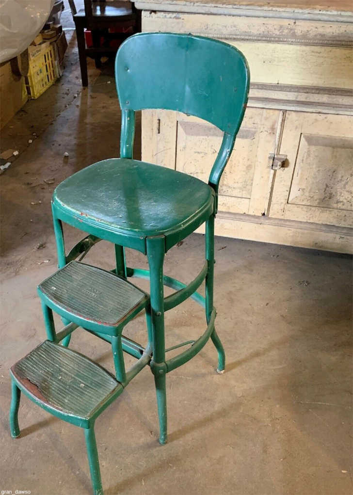 The Kitchen Step Stool Everyone Grew Up, Antique Kitchen Step Stool Chair