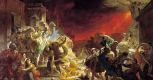 depiction of the victims of Pompeii intheir last hours, painted in the 1830s