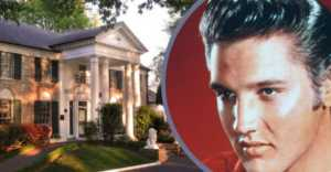 collage of Elvis Presley and Graceland