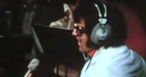 Elvis Presley performing