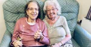 lifelong friends, Olive Woodward and Kathleen Saville, move into nursing home together