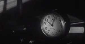 wind-up alarm clock