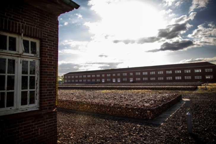 remnants of a Nazi concentration camp