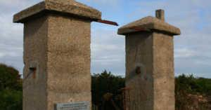 camp gates at Sylt on Alderney