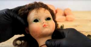 damaged 1960s baby doll