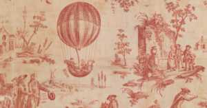 18th century toile du Jouy from the Oberkampf Manufactory