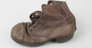 shoe found in a nazi concentration camp