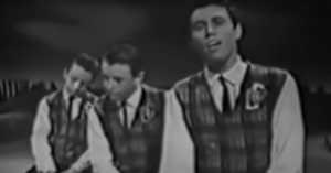 the Bee Gees performing on Australian TV in 1963