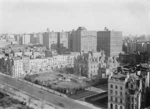 aerial view of Upper West Side mansion of Charles M Schwab, now demolished