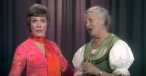 Maria von Trapp and Julie Andrews performing together