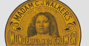 tin of Madam C.J. Walker Wonderful Hair Grower