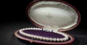 strand of pearls in a special case