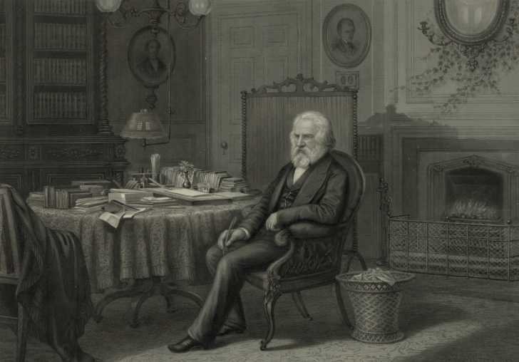 engraving of Henry W. Longfellow