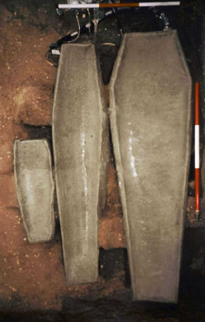 coffins discovered neaty St. Mary's Historical City