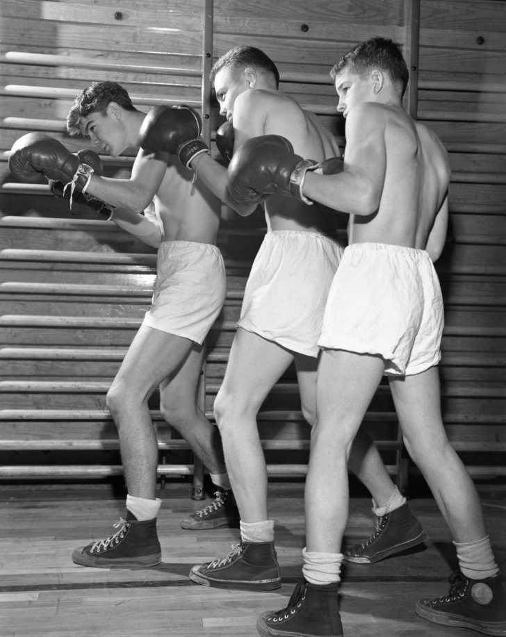 High School Boxing Team Oak Ridge 1947