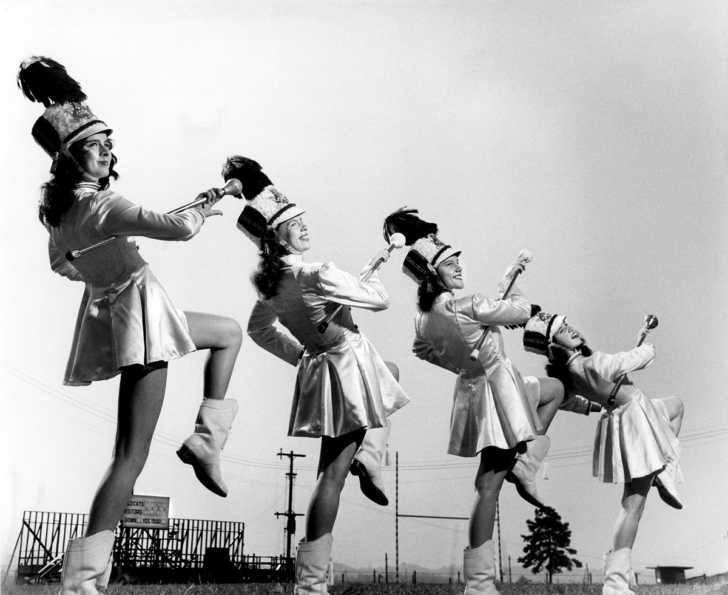 late 1940s drum majorettes