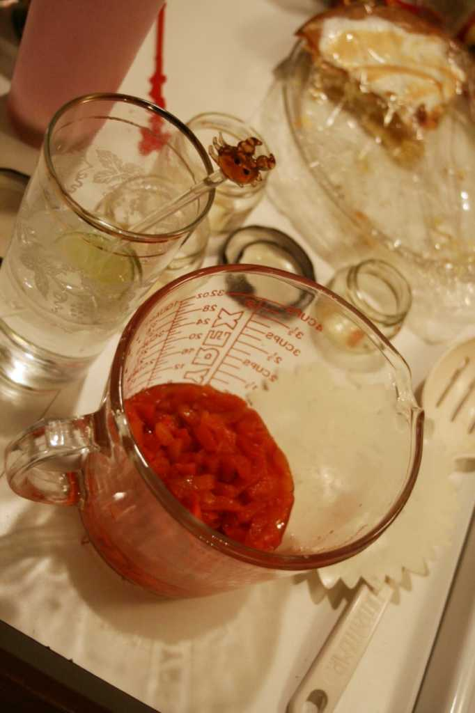 pimentos in a large measuring cup