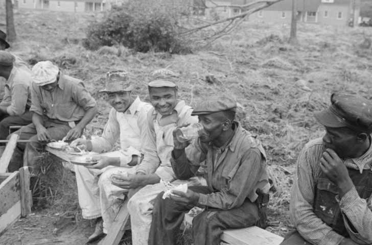 African American workers having a lunch break, 1930s