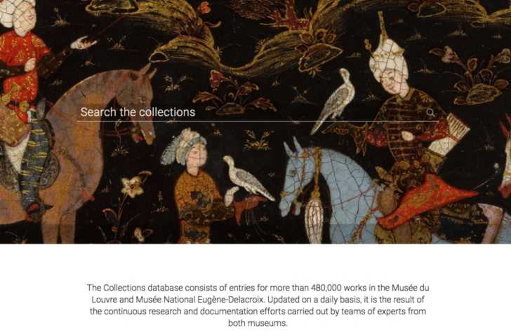 Louvre online collection website