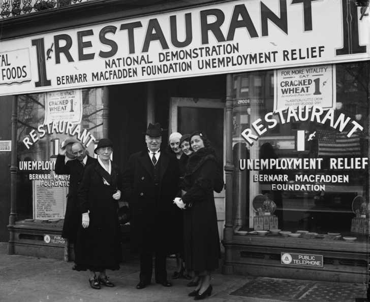 penny restaurant in New York City during the Great Depression