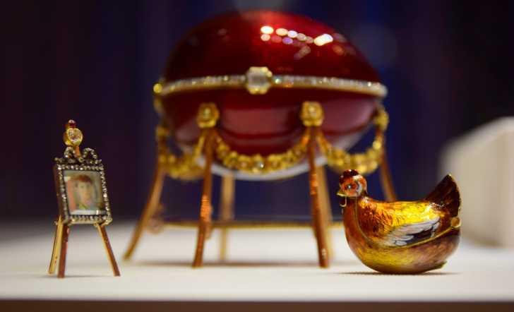 Fabergé egg at the Fabergé Museum in St. Petersburg