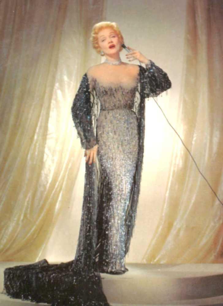 Marlene Dietrich in 1953, postcard for the Sahara in Las Vegas