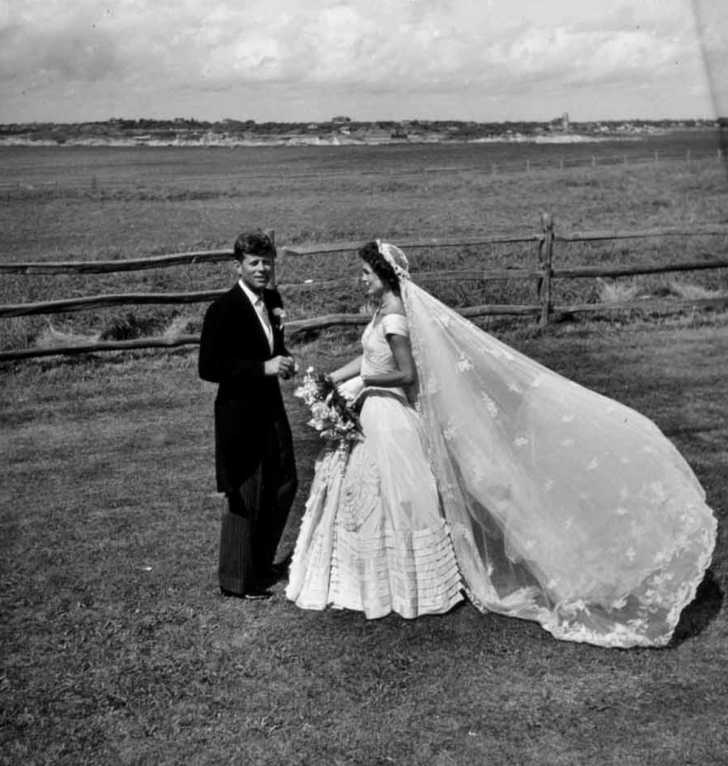 wedding of Jackie and JFK