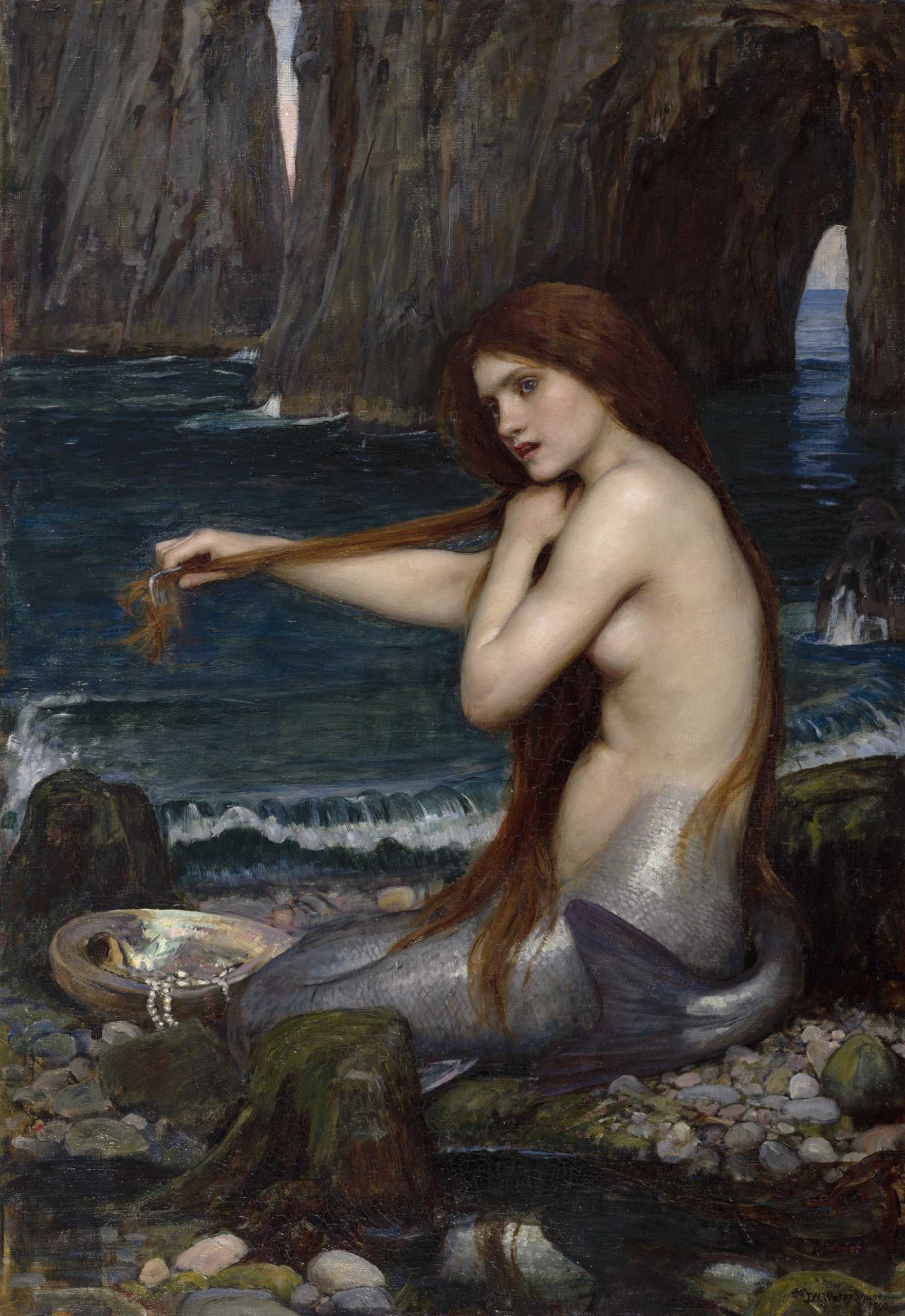 painting of a mermaid by John William Waterhouse