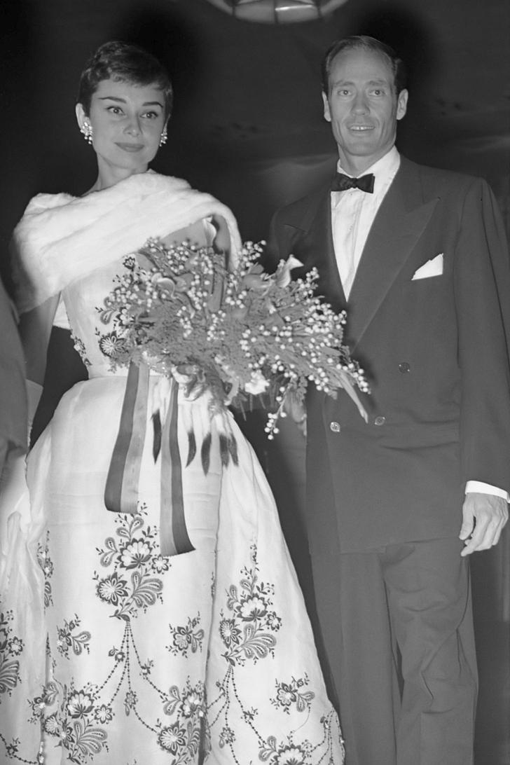 Audrey Hepburn and Mel Ferrer in 1954