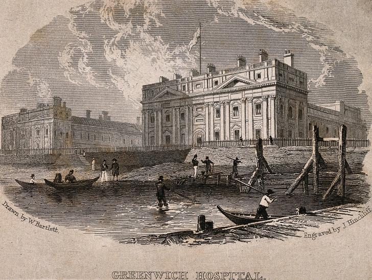 1820s mudlarking near Greenwich Hospital London