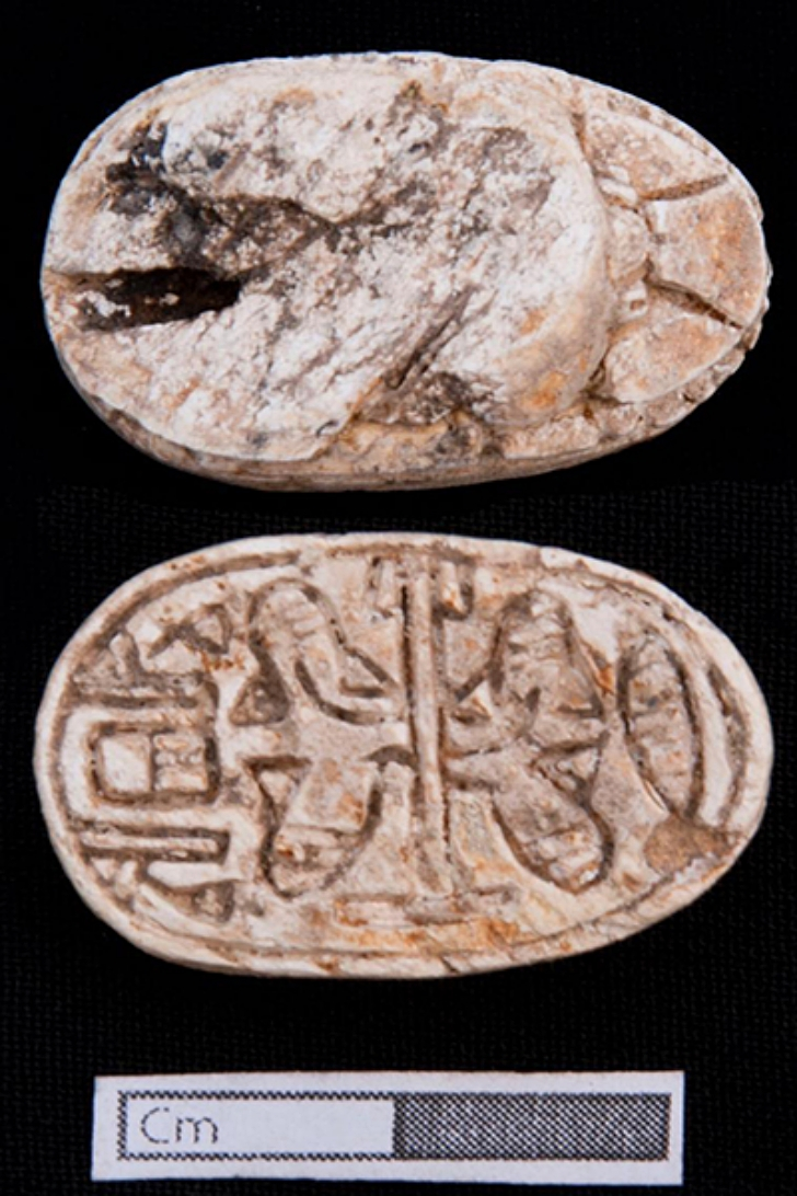 scarab foun d at ancient gravesite of pre-dynasty Egypt