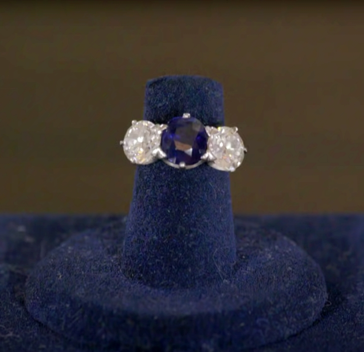 antique sapphire ring appraised on Antiques Roadshow