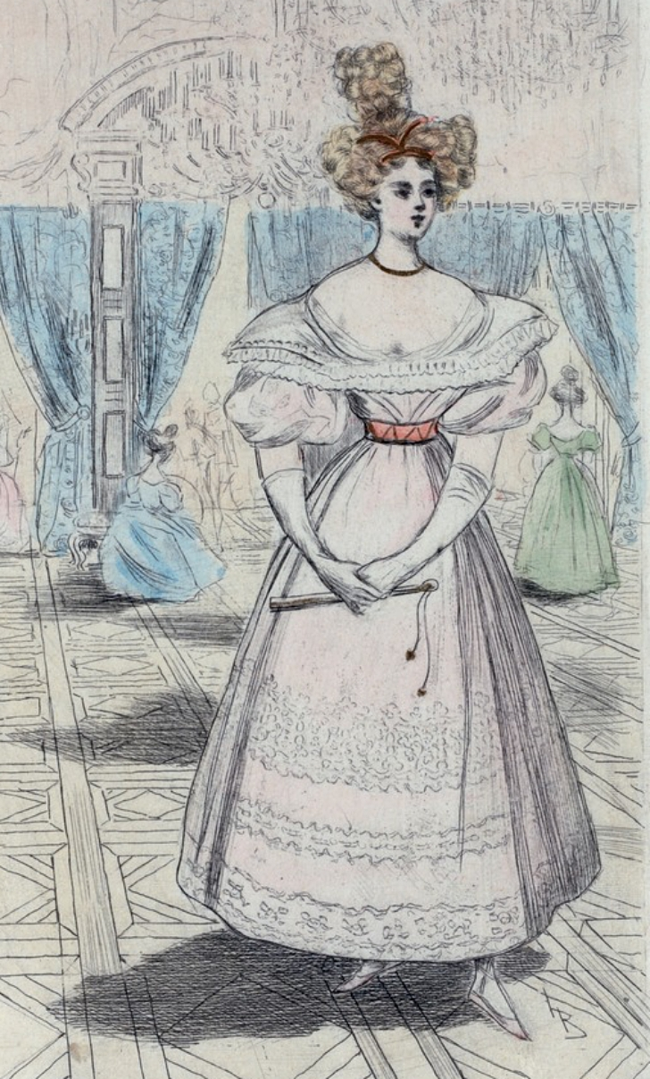 depiction of 1820s women's dress