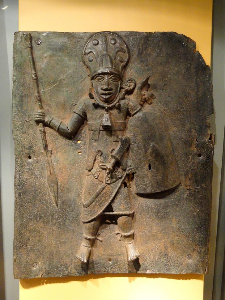 Benin Bronze on display in Munich