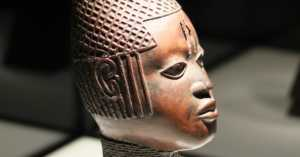bronze queen bust from the Benin Bronzes in Germany