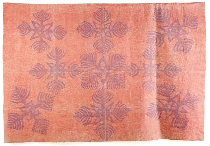 19th century kapa moe barkcloth