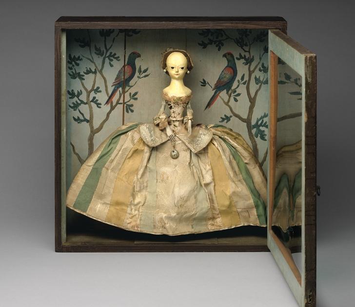 18th century fashion doll in case