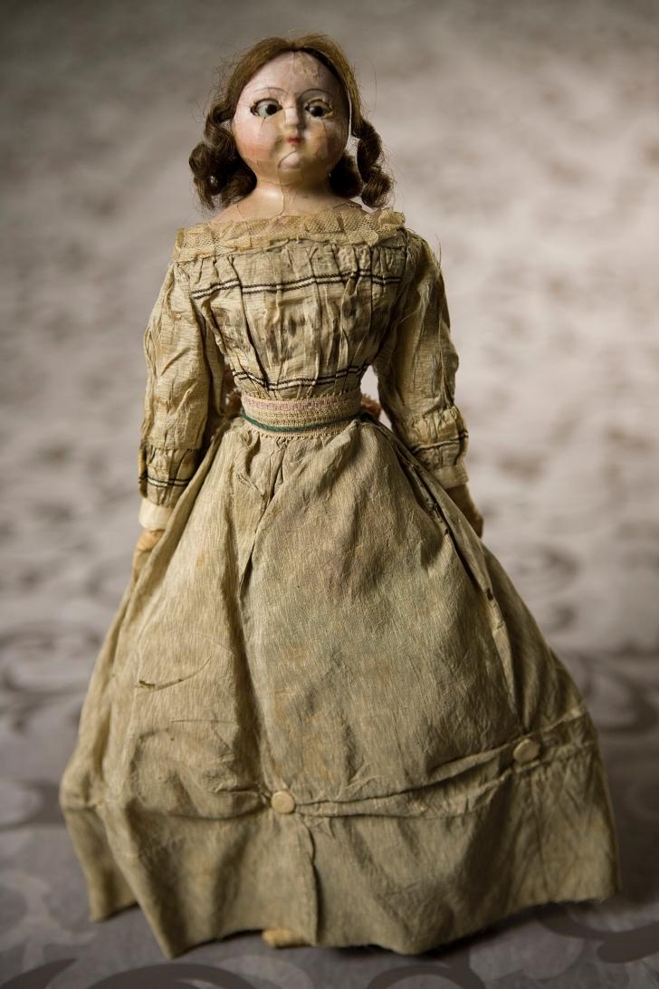 wax head fashion doll from 1825