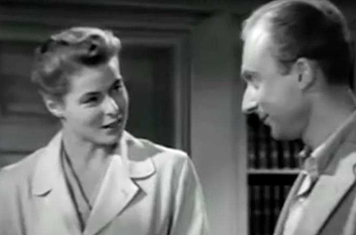 Norman Lloyd and Ingrid Bergman in Spellbound