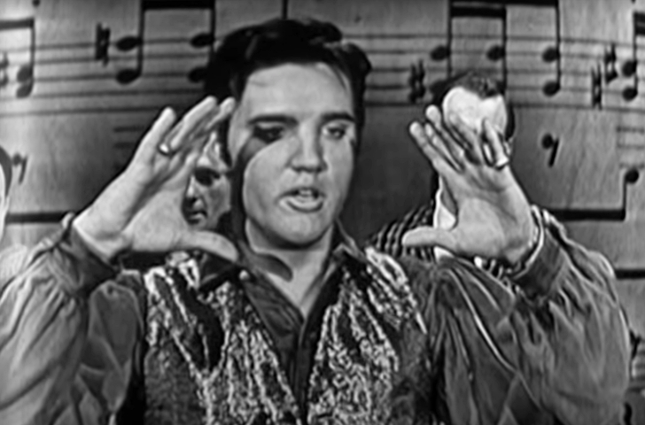 Elvis performing on The Ed Sullivan Show in 1957