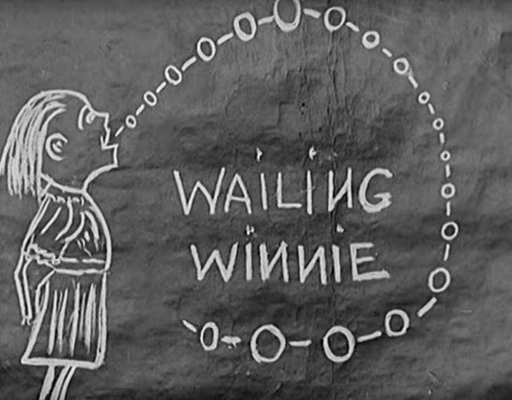 wailing winnie illustration