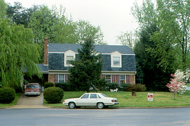 1980s suburban house exterior