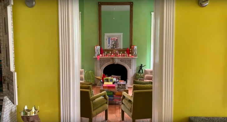 yellow and green rooms in historic house