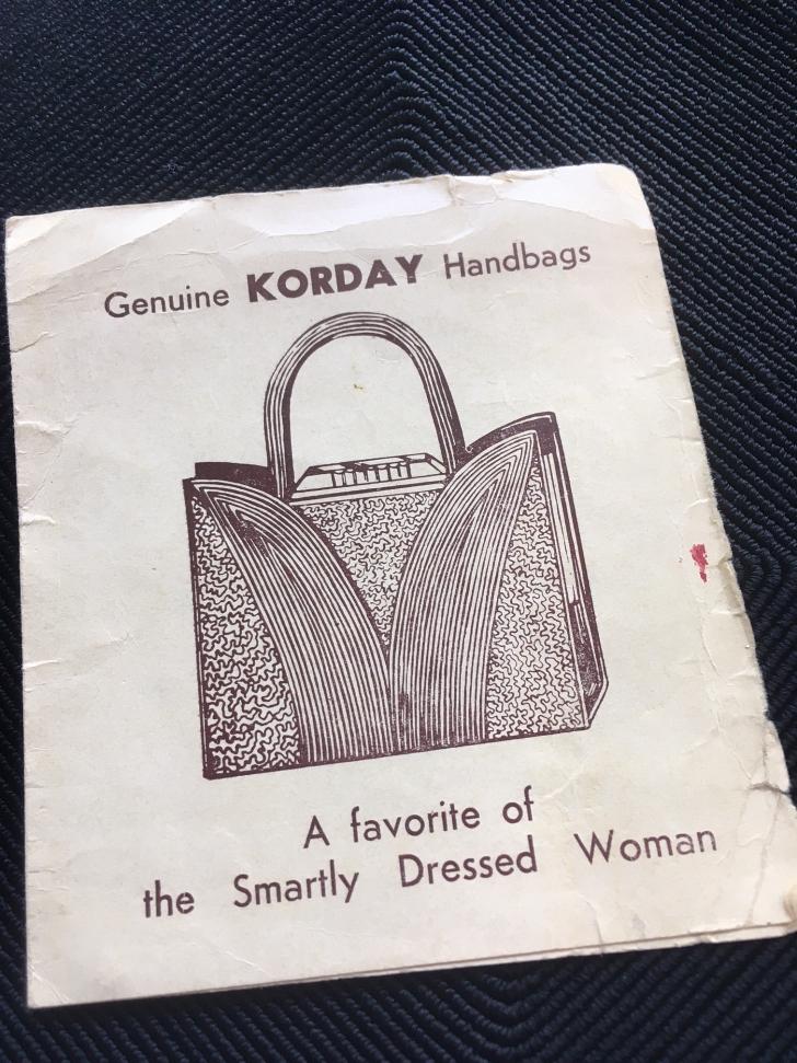 korday handbag card