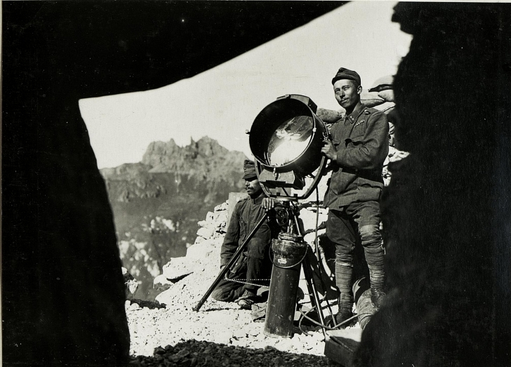Austro-Hungarian soldier in the Alps during WWI