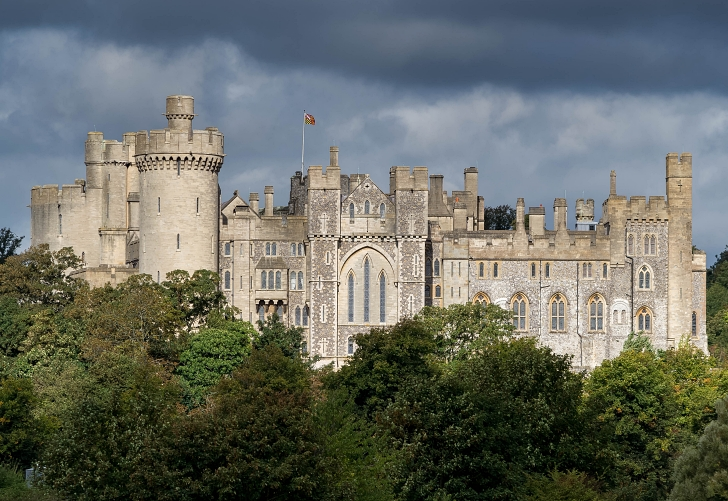 Arundel Castle  on a cloudy day