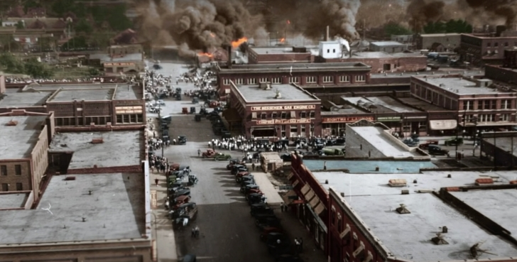 Greenwood massacre colorized still