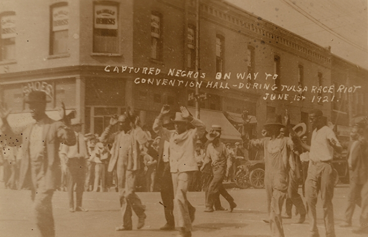 Greenwood residents being rounded up in 1921