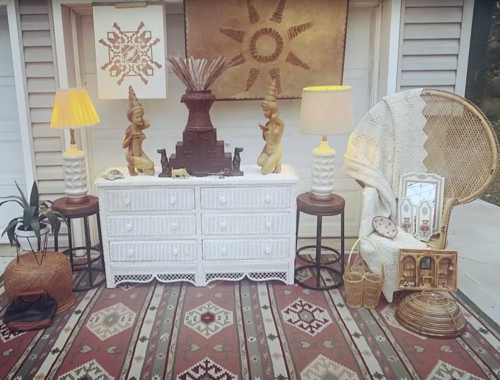 vintage items for sale in driveway